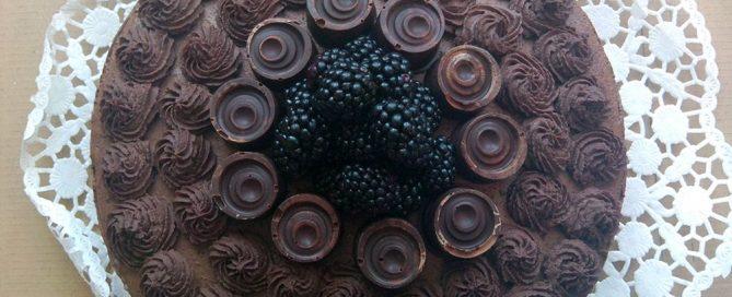 szedres csokoládétorta Száva blogja